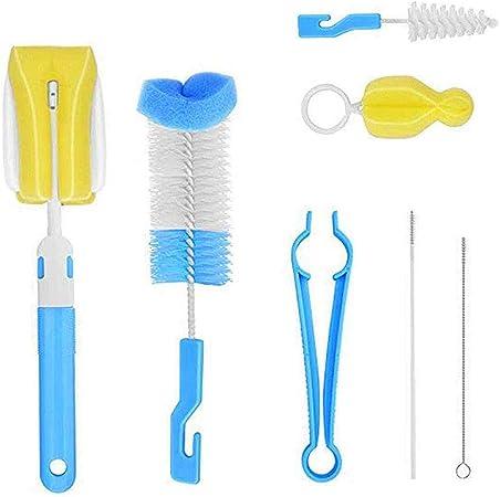 Cepillo para Biberones Limpia 7 Piezas Kit de limpieza para Botellas//Paja//Vasos