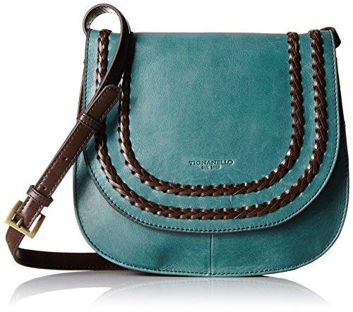 Tignanello Boho Classic Vintage Leather Saddle Bag, Juniper/Dark - Brown Leather Tignanello