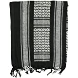 Fox Military Tactical Desert Keffiyeh Scarf Shemagh,One Size,Black/White