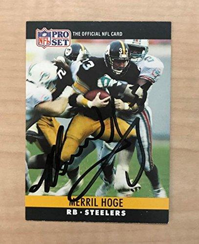 MERRIL HOGE PITTSBURGH PIRATES SIGNED AUTOGRAPHED 1990 PRO SET CARD #33 W/COA