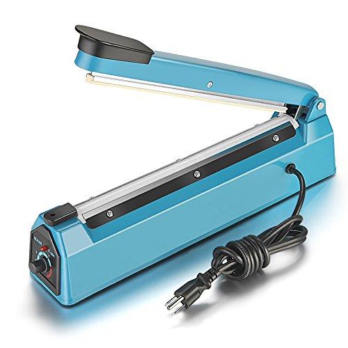 Impulse Manual Hand Sealer Heat Sealing Machine Poly Tubing Plastic Bag (12inch)