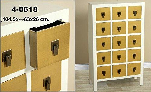 DonRegaloWeb - Mueble cajonera de madera con 15 cajones y ...