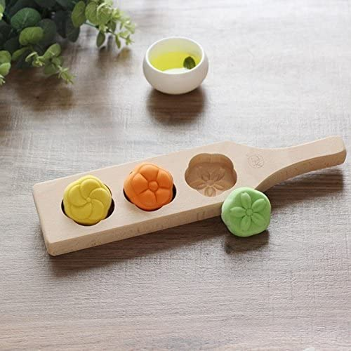 Wooden Moon Cake Mooncake Decoration Mold Mould Flowers DIY Baking Tools