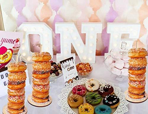Set of 3 Donut Display Stands Astra Gourmet Wood Donut Stands Wedding Donut Bar Holder Dessert Bar Stand Wedding decor