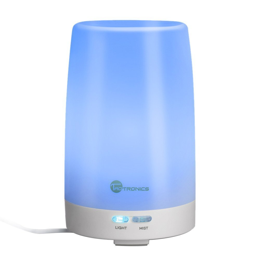 Tao Tronics Essential Oil Diffuser, 100ml Ultrasonic Humidifier Portable Aromatherapy Diffuser, Aroma Diffuser With Cool Mist And Color Changing Led Lights, Diffusers For... by Tao Tronics