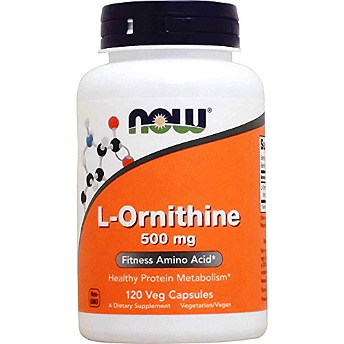 NOW L Ornithine 500 120 Capsules product image