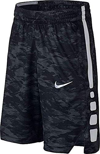Nike Boys' Dry Elite Vent Basketball Training Shorts , Black Camo Print , Large ()