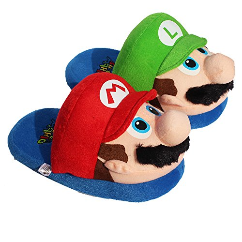 11 Inch Super Mario Bros Leuke Mario En Luigipantoffels Binnen
