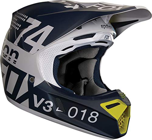 19520-097-S - Fox Racing V3 Draftr Motocross Helmet S Light Grey: Amazon.es: Deportes y aire libre