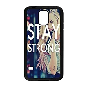 Samsung Galaxy S5 Cases Demi Lovato Stay Strong, - [Black] Bloomingbluerose