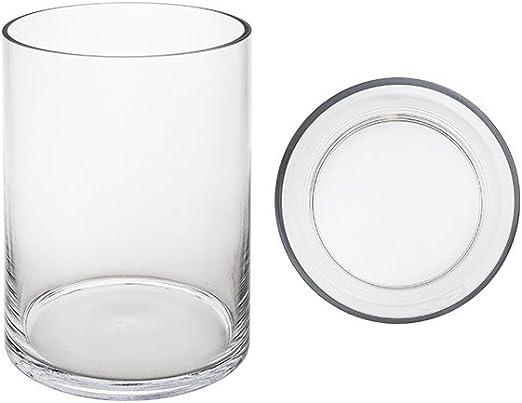 """Set of 6 Mega Vases Clear 4/"""" x 8/"""" Cylinder Glass Vase"""