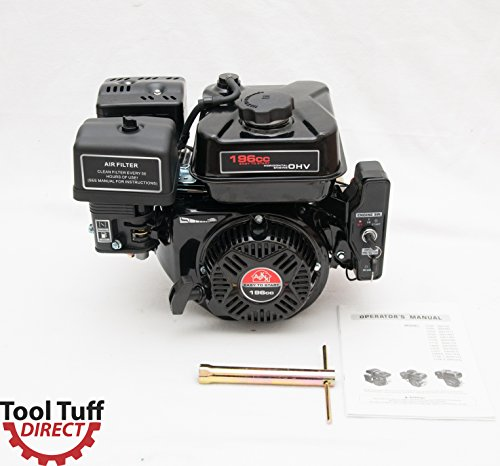 Four Stroke Engine (NEW Tool Tuff 196cc Electric Start 6.5hp Gasoline Engine, 4-Stroke, Easy-Starting, 6 Month Warranty - Great for Replacement or DIY Projects)