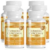Turmeric Premium – Pure Turmeric 95% Curcumin with Bioperine – Vegan Natural Anti-Inflammatory, Antioxidant, Pain Relief and Antidepressant – 360 Capsules, 3 Months Supply