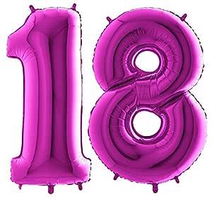 Globos con el número 18 de XXL - Colour Morado gigante de ...
