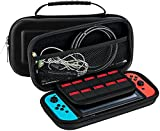 Nintendo Switch Carrying Case Bag. Coolfire Protective Carrying Case with 10 Game Cart Slots and Top Handle For Nintendo Switch Console,Joy cons