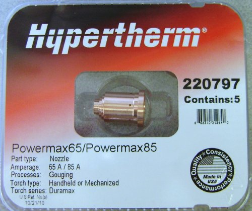 - Hypertherm Powermax 85 Gouging Nozzles 220797