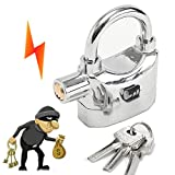 Security Anti Theft Alarm Lock Motion Sensor Padlock Waterproof Aluminum Alloy