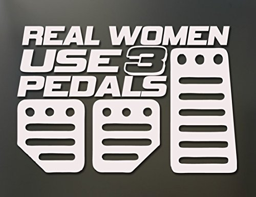 1-Set Unrivaled Popular Real Women Use 3 Pedals Car Stickers Truck Windows Vinyl Decals Honda Racing Color White