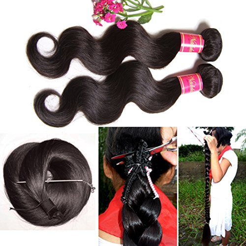 Nadula Hair 7a Best Quality Brazilian Body Wave Virgin Hair Extensions 3 Bundles 18 20 22 Brazilian Wavy Unprocessed Human Hair Weave Natural Color by Nadula (Image #5)