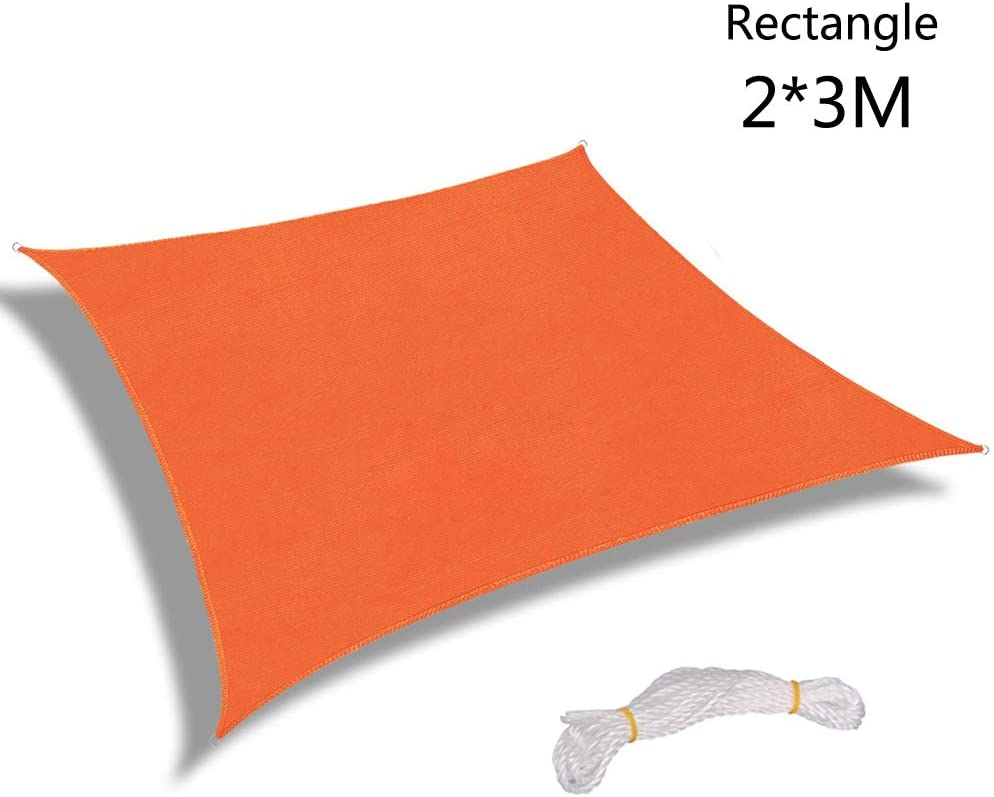 Warooma 2m x 2m Sun Shade Sails Canopy Rectangle Sand UV Heavy Duty Commercial Grade Patio Waterproof Block Sun Shade Awning for Outdoor Facility and Activities