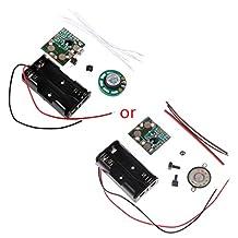 SimpleLife DIY Electronic Kit Voice Recording IC Module Mini Digital Chip Recorder Music Card 3.4x2.9cm/1.34x1.14