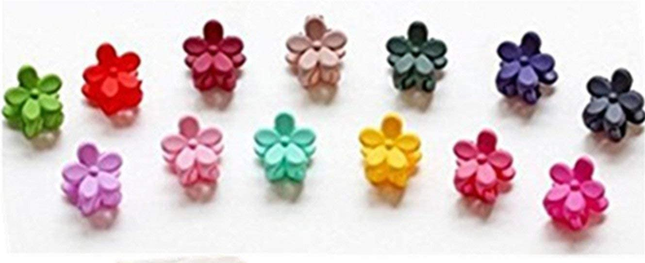 10pcs Girls Kids Baby Mini Hair Clips Flower Crystal Colorful hairpins
