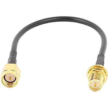 SMA-J macho a rp-sma-ky hembra RG174 Cable Coaxial Pigtail 15