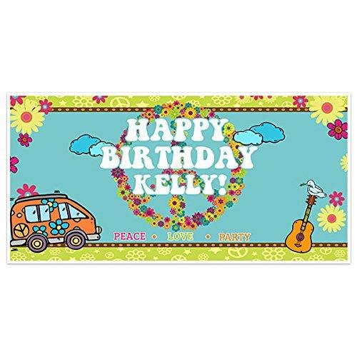 (60s Hippies Flower Child Birthday Banner Party Decoration)