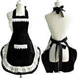 Lovely Lace Work Aprons Home Shop Kitchen Cooking Tools Gifts for Women Aprons,black