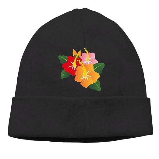 f092b6ce11f Amazon.com  Ghhpws Flowers Beanie Wool Hats Knit Skull Caps Warm ...