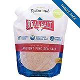 Redmond Real Salt - Ancient Fine Sea Salt, Unrefined Mineral Salt, 26 Ounce Pouch (12 Pack)