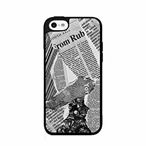 Old Newspaper Clippings Art 2-Piece Dual Layer Phone Case Back Cover iPhone 5c includes diy case Cloth and Warranty Label