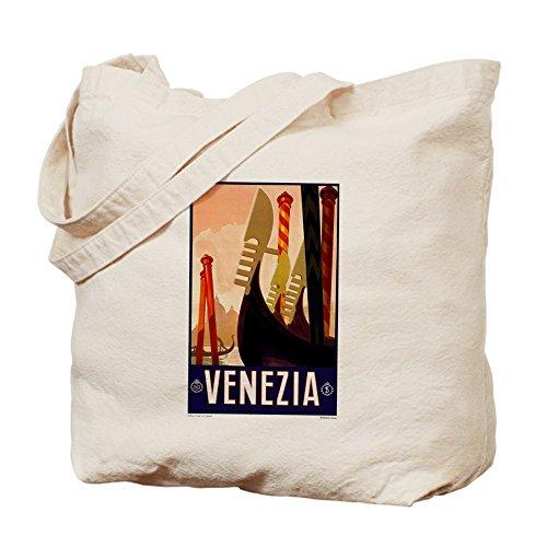 CafePress–Antico Venezia Gondole Travel Poster–Borsa di tela naturale, panno borsa per la spesa