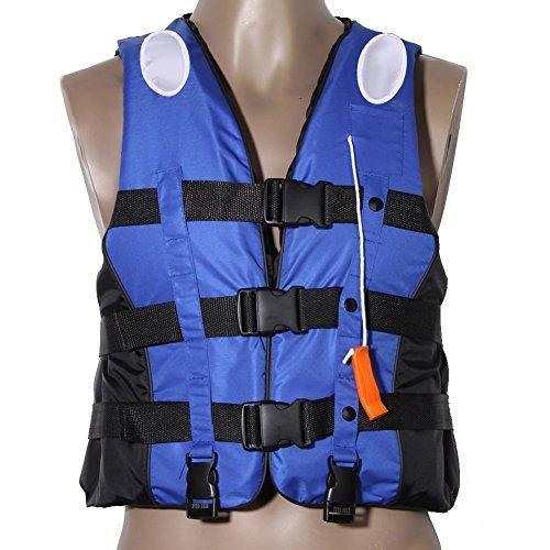 Yosoo Unisex Rettungsweste Schwimmweste für Kinder und Erwachsene 5 Größen Geeignet für 25-110 kg, S-XXL (Blau, XXL)