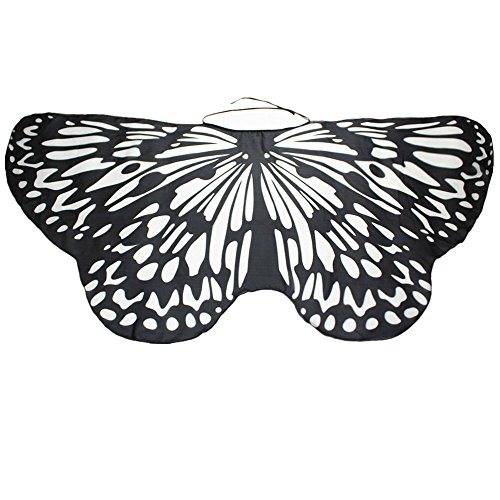 NUWFOR Halloween/Party Prop Soft Fabric Butterfly Wings Shawl Fairy Ladies Nymph Pixie Costume Accessory …(B-d,One Size)