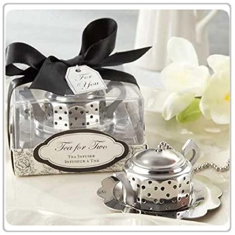 Amazon 10x Tea For Two Teapot Tea Infuser Wedding Favors And