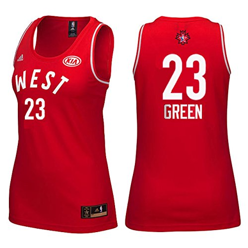 Draymond Green #23 Women's 2016 Toronto NBA All Star Game Jersey Red (Large)