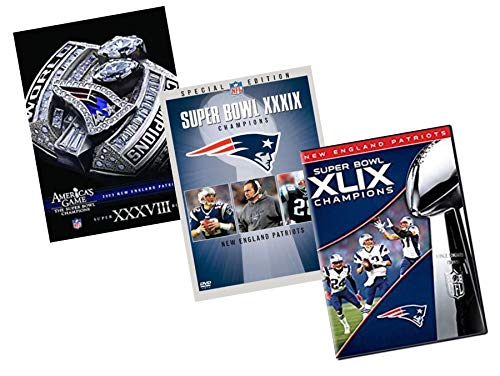 Ultimate NFL New England Patriots 3-Pack DVD Collection: America's Games Super Bowl 38 (XXXVIII) / Super Bowl 39 (XXXIX) Champrions / Super Bowl 49 (XLIX) - Super Bowl Xxxviii