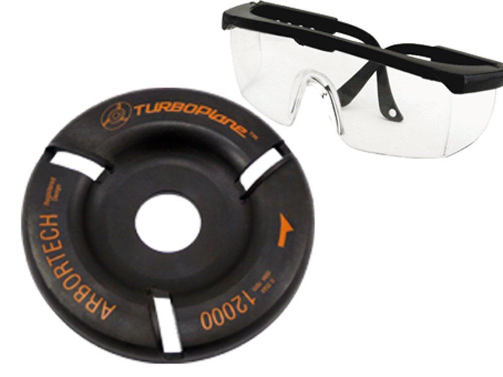 Arbo rtech Turbo Bâche Bâche avec lunettes de protection–Fraisage diamanté pour bois/Meuleuse d'angle