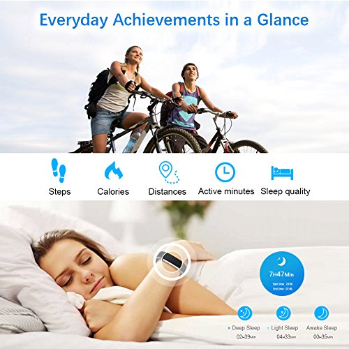 LETSCOM Fitness Tracker HR, Heart Rate Monitor Watch, IP67 Waterproof  Activity Tracker with Step Counter and Sleep Monitor, Pedometer Watch,  Smart