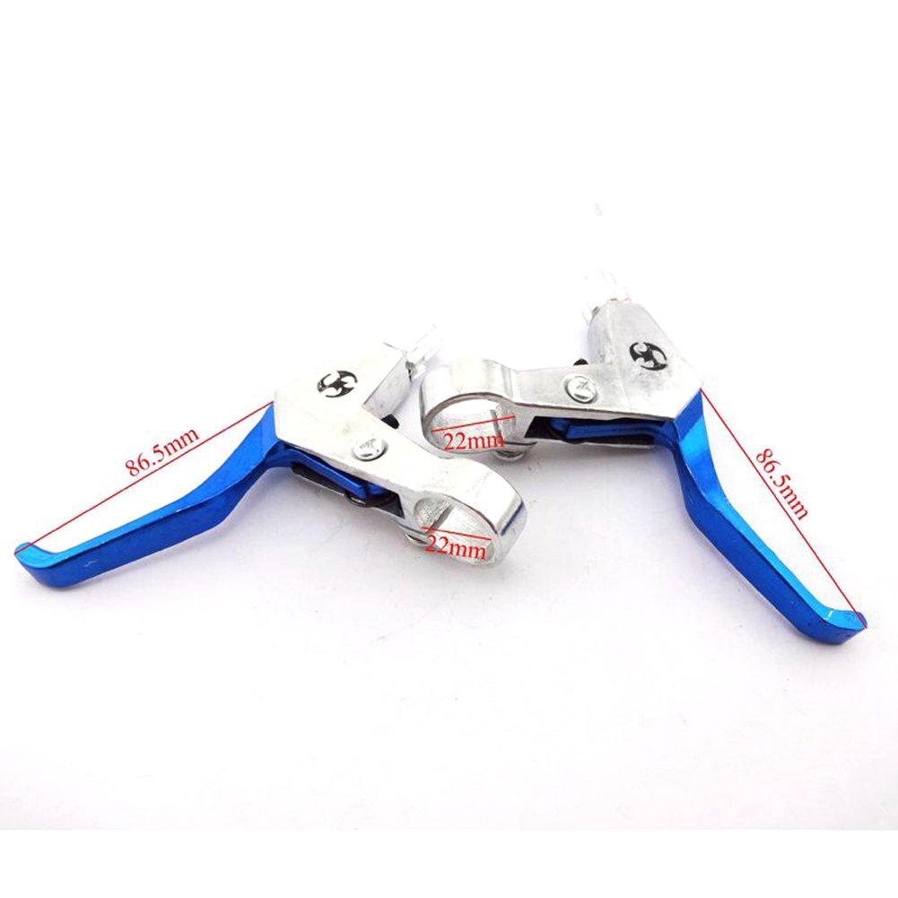 moto mini moto pour enfants scooter Poign/ées droite et gauche Stoneder bleues de 2,22/cm pour leviers de frein pour moteurs 43/cc 47/cc 49/cc
