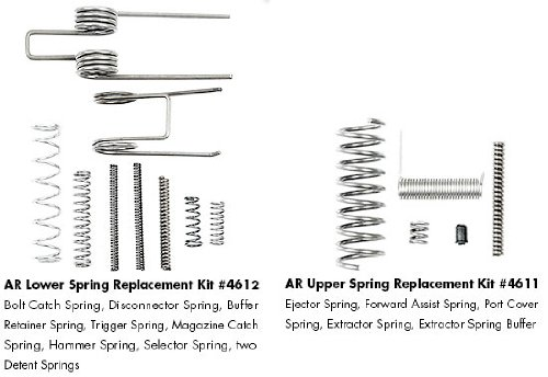 ERGO AR-15 Upper and Lower Spring Replacement Kit, Outdoor Stuffs