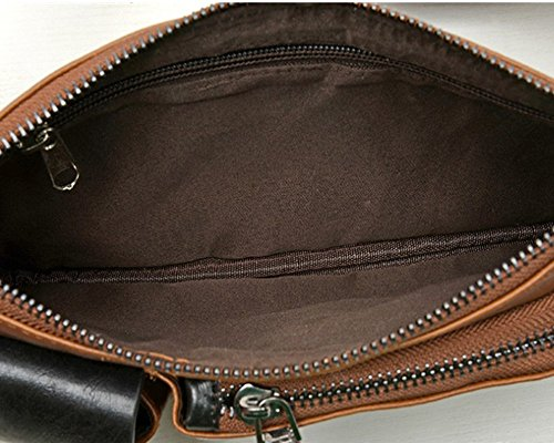 Purse Shoulder leather Waist PU Brown bag Messenger bag bag Unisex qtw0p