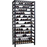 Free Standing Metal Wine Rack - 126 Bottle