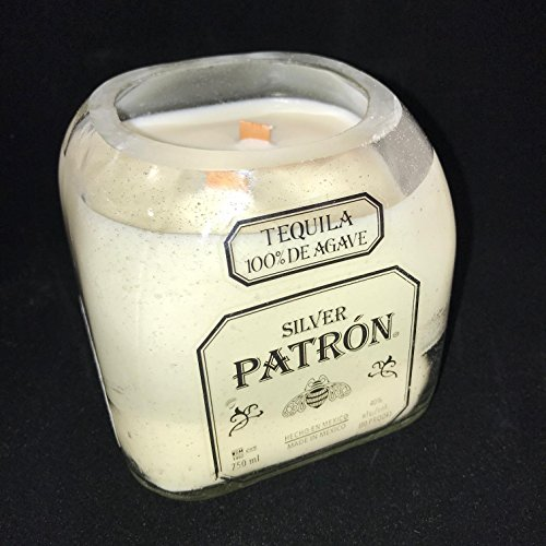 Salted Lime Margarita, PATRON, Limited Edition Soy Candle, Reclaimed Bottle, Handmade, PATRON Margarita Glass Candle