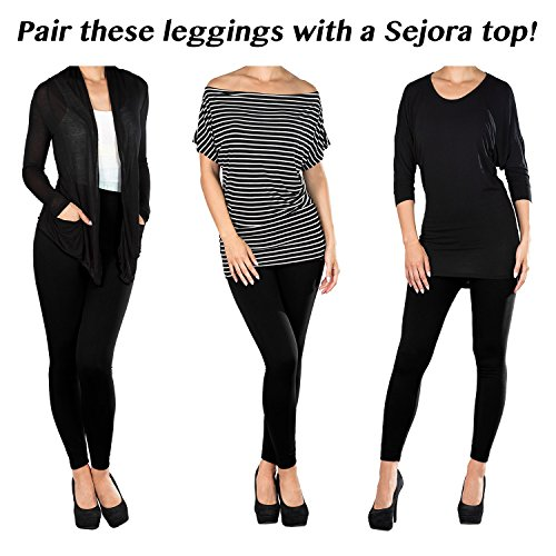 SEJORA Fleece Lined Leggings High Waist Compression ...