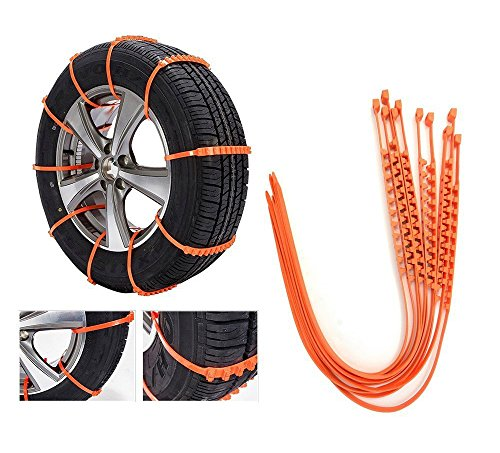 OSIAS New 10 PCS Snow Tire Chain for Car Truck SUV Anti-Skid Emergency Winter Driving