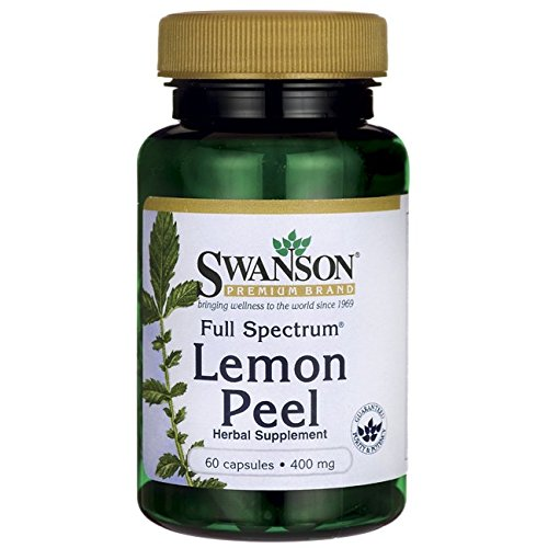 Swanson Full Spectrum Lemon Peel 400 Milligrams 60 Capsules