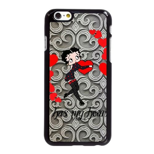 Betty Boop 2 iPhone 6 6S 4,7-Zoll-Handy-Fall Hülle schwarz U4N2WMXCFJ