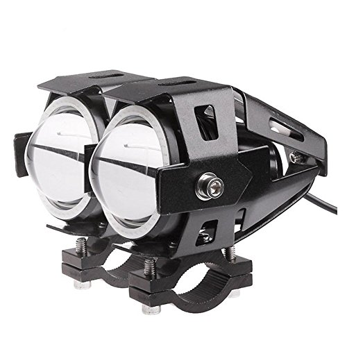 ALLOMN CREE U7 Motorcycle LED Headlight, 2 Pack Driving DRL